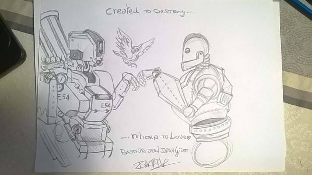 Bastion and AironGiant by InkFlowsInVein