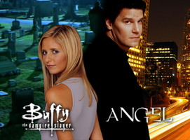 Buffy The Vampire Slayer and Angel. by TheChimeraDoll