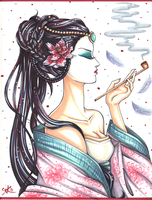 Geisha - Copic Contest by Ringo101