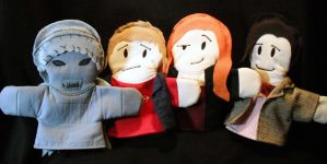 11th Doctor and Crew Puppet Set by AbleSistersFanCrafts