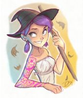 Alli the Witch by DaveJorel