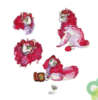 Adoptable: Princess Raspberry SOLD by RayEtherna