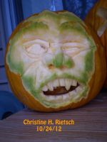 Ghoul Pumpkin by Christine Rietsch by Black-Feather