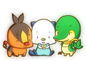 Tiny Unova Starters by KevKeaf