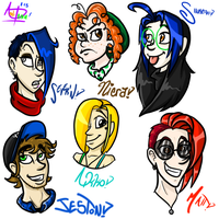 OCs!! FOR LACK OF COMIC'S NAME by InvaderSonicMx