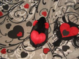 I :heart: Guinea Pigs Plushie - Black + Red Heart by Morumoto