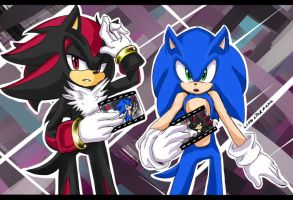+SONIC AND SHADOW+ by LeonStar123