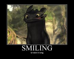 Toothless Smiling by WALLEBob