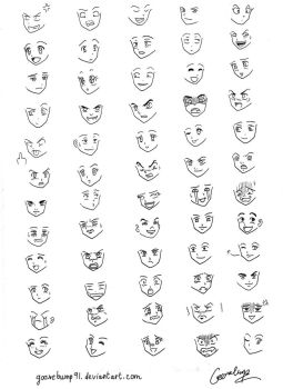 60 Manga and Anime Expressions by goosebump91