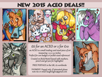 ACEO COMMISSIONS OPEN - new 2 for 10 pounds deal! by reaperfox
