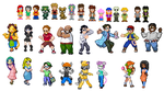 Survivor Fan Characters BETA Sprites by SWSU-Master