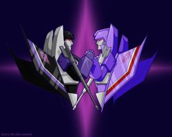 Skywarp and Steadfast by WaywardInsecticon