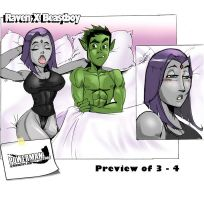 Raven X Beastboy 3 -4 Preview by powerman2000