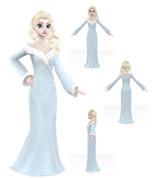 MMD Elsa the Seraphic Charm by animefancy-mmd
