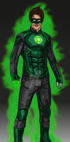 Arrow/Flash Concept: Green Lantern with Mask by IronAvenger1234