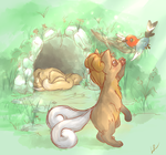 Playful baby vulpix by Tachi--Baka