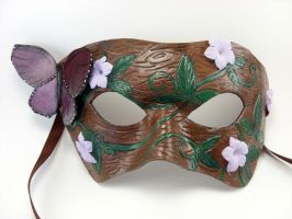Dryad Mask - Leather Mask by LucyLovesLeather