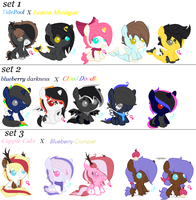 Foals For Cupiecakeadopts ~CLOSED~ by Goldenecho