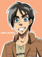 Eren Jaeger~Attack on Titan  by leemasedan