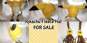 Pikachu Fleece Hat -For Sale- by Dare2DreamMedia