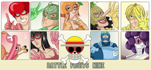 Battle Fruits Nine by thekingofqueens25
