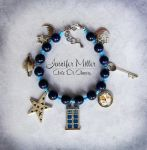 Doctor Who Tardis Beaded Charm Bracelet by ArteDiAmore