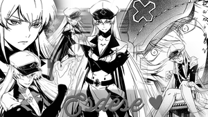 Esdese (Esdeath) Manga Collage Wallpaper by Danny-V-Ulrich