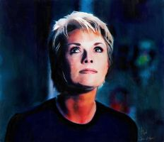 Sam Carter - Stargate SG-1 - watercolor2 by riverfox1