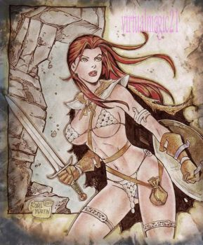 RED SONJA by RODEL MARTIN (07202015) by rodelsm21