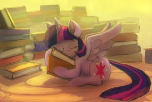 Twilight and Books by Raikoh-illust