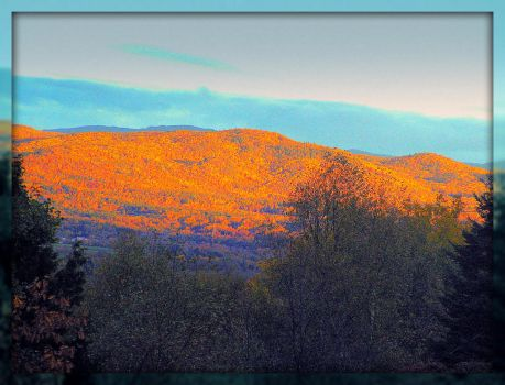 Sun Is Rising, Hitting The Mountain In Fall by surrealistic-gloom