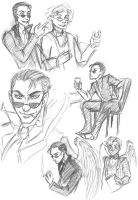 Good Omens sketches by Clueedo