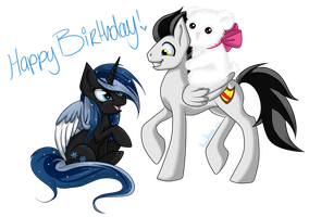Happy Birthday Snowy by xMetalKitty