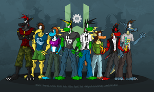 LeYoshiMetalleux's original characters by McTaylis