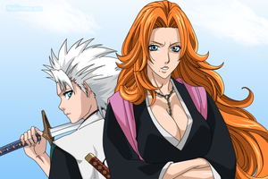 Hitsugaya and Matsumoto by Mishinama-san