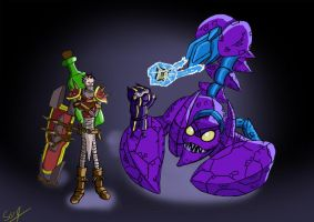 [League of Legends] Singed, Skarner and Kennen by Sarqful