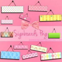 Signboards Png by NyaAkemiChan