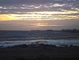 Sunset Overlooking Trecco Bay Beach March 2012 by welshrocker