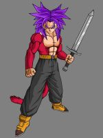 Future Trunks SSJ4 by theothersmen