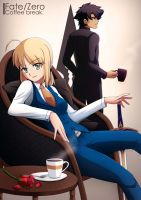 Fate Zero - Coffee Break by dmy-gfx