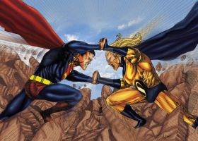 Superman Vs Sentry by brimstoneman34
