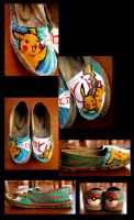 Pikachu Shoes by Clairictures