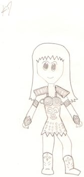 Xena Warrior Princess Chibi by Everybody-Hides
