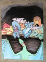 Is there room for one more? -Chalk Art by CrystalCircle