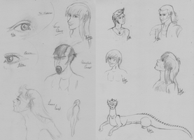 Sketch Dump - Charas and Then Some! by Kichai