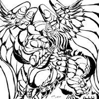 Hyper Muscled Bahamut X Inked by exuitirteiss