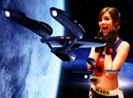 Victoria Justice And The Enterprise by GiantessStudios101