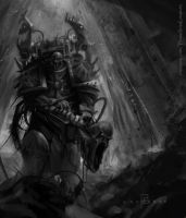 Chaos space marine- Warhammer by Lordigan
