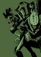 Blitzwing and BlackArachnia by piyo119