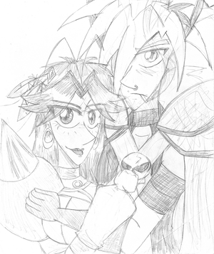 Oracles- Rin X Aki SKETCH